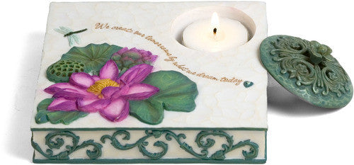 We create our tomorrows by what we dream today Candle Holder Candle Holder - Beloved Gift Shop