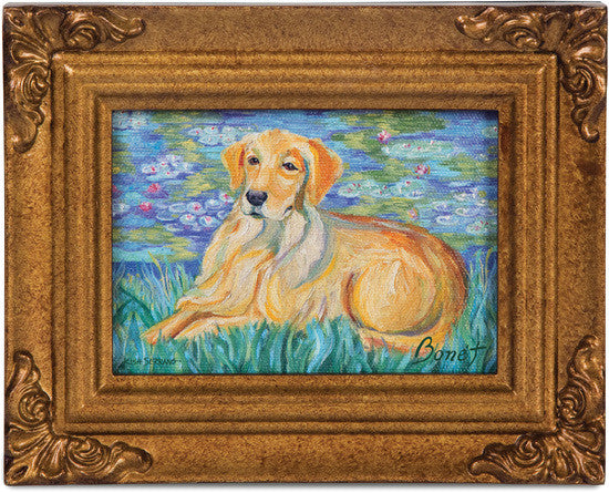 Golden Retriever Bonet Framed Canvas Artwork Framed Canvas Art - Beloved Gift Shop