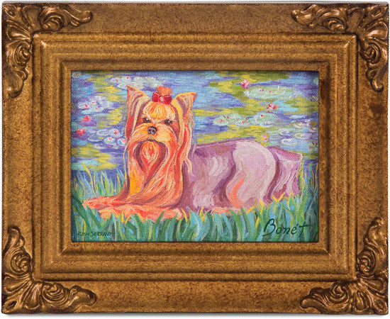 Yorkshire Terrier Bonet Framed Canvas Art Framed Canvas Art - Beloved Gift Shop