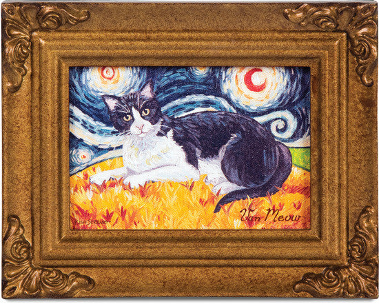 Tuxedo Van Meow Framed Canvas Art Framed Canvas Art - Beloved Gift Shop