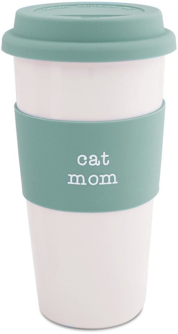 Cat Mom Ceramic Travel Mug