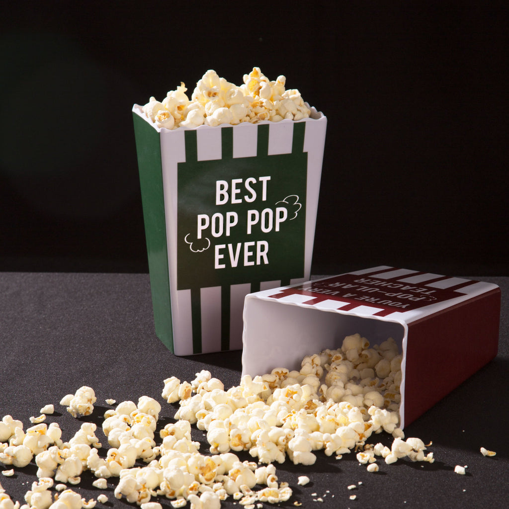 Best pop pop ever - Popcorn Bowl by Man Made - Beloved Gift Shop