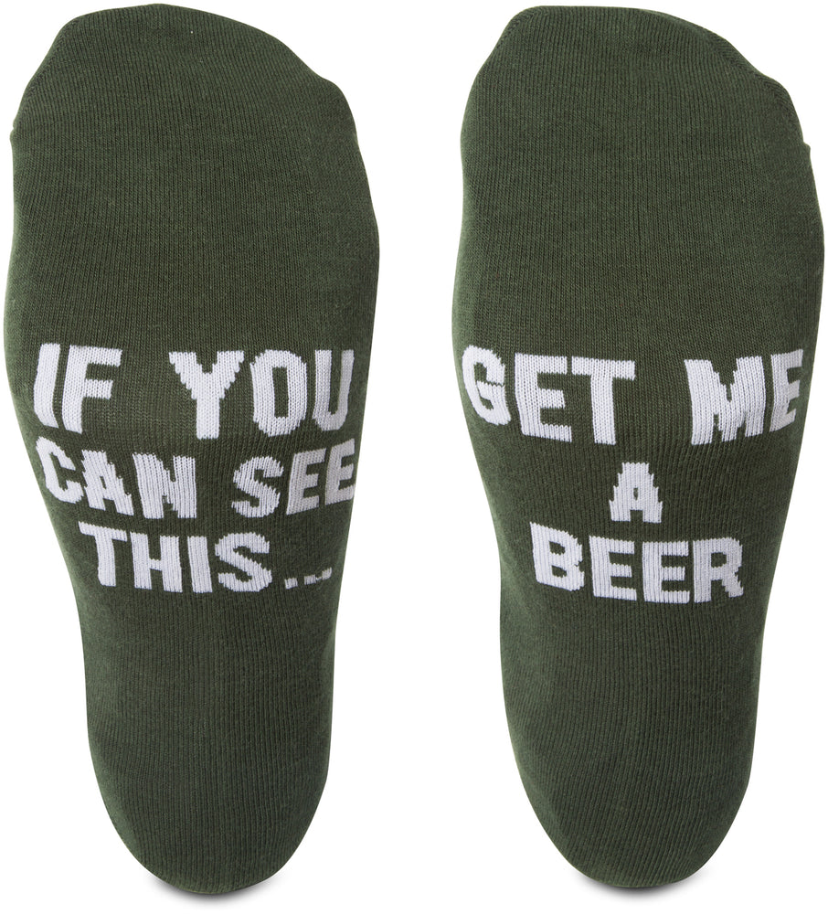 If you can read this... get me a beer Mens Cotton Blend Socks