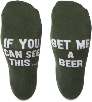 If you can read this... get me a beer Mens Cotton Blend Socks Socks - Beloved Gift Shop