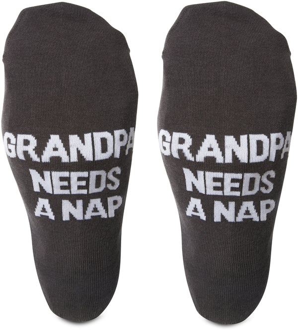 Grandpa needs a nap Mens Cotton Blend Socks Socks - Beloved Gift Shop