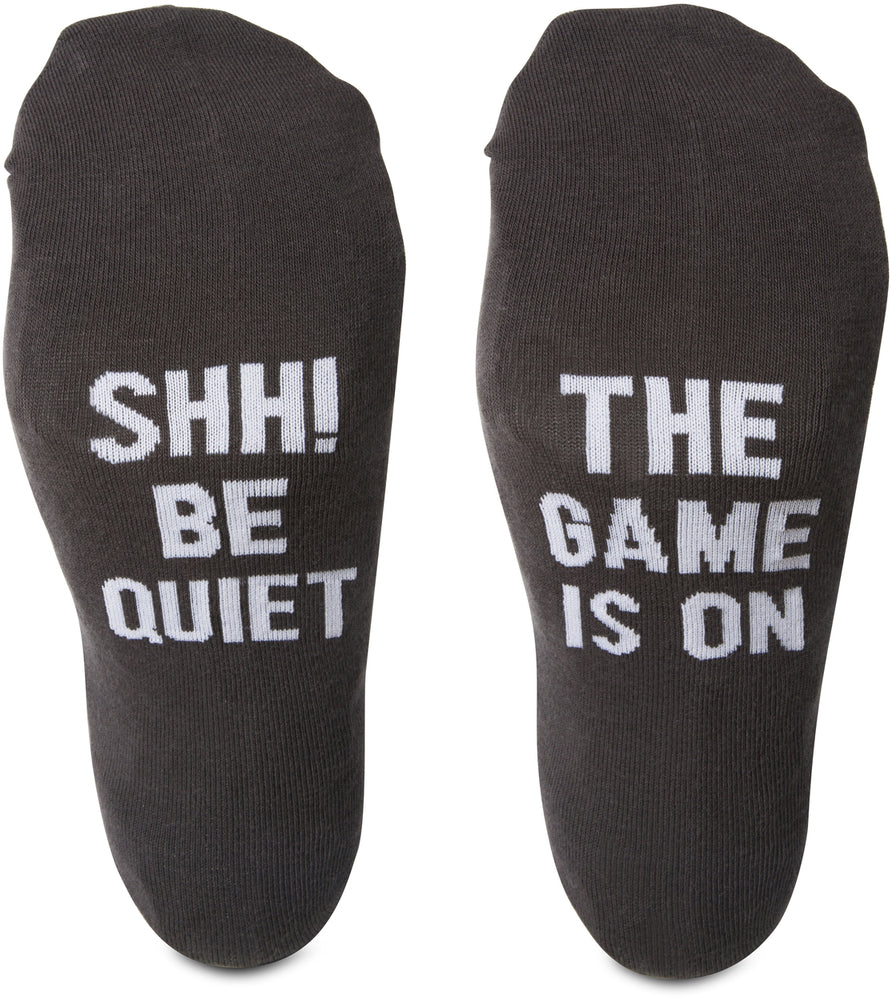 Shh! Be quiet the game is on Mens Cotton Blend Socks