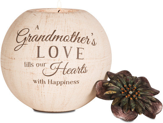 A Grandmother's Love fills our Hearts with Happiness Candle Holder