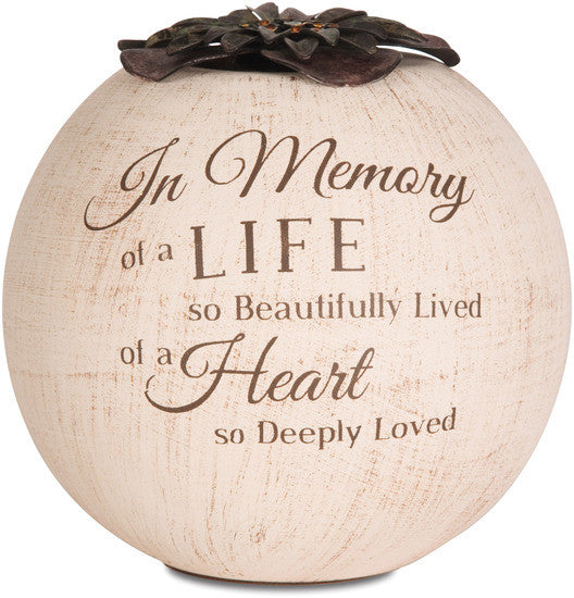 In Memory of a Life so Beautifully Lived of a Heart so Deeply Loved Candle Holder
