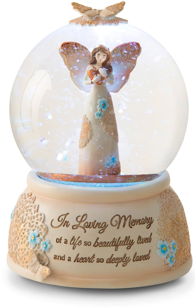 In Loving Memory LED Lit 100mm Musical Water Globe