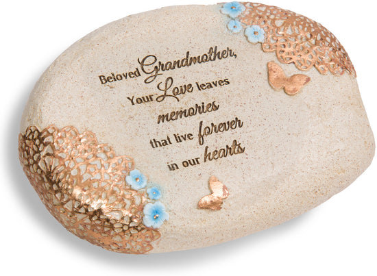 Beloved grandmother, your love leaves memories that live forever in our hearts Memorial Stone
