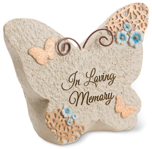 In loving memory Butterfly Memorial Stone