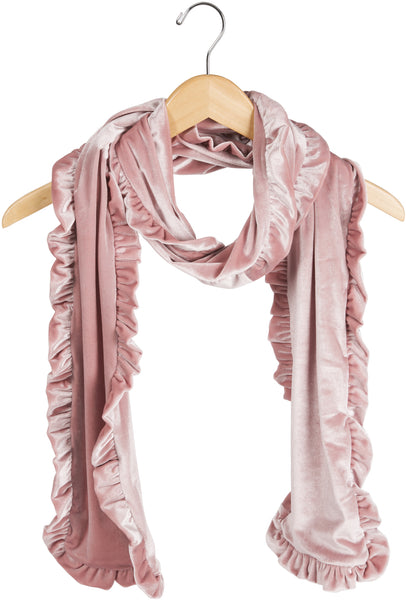 Ballerina Ruffled Velvet Scarf Velvet Scarf - Beloved Gift Shop