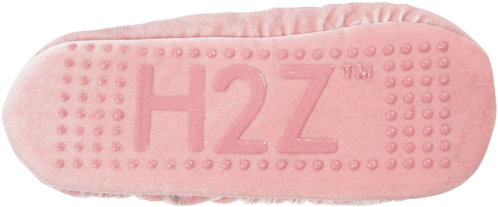 H2Z Silky Smooth Ladies Pompom PINK Ballerina Velvet Slipper Velvet Slippers - Beloved Gift Shop