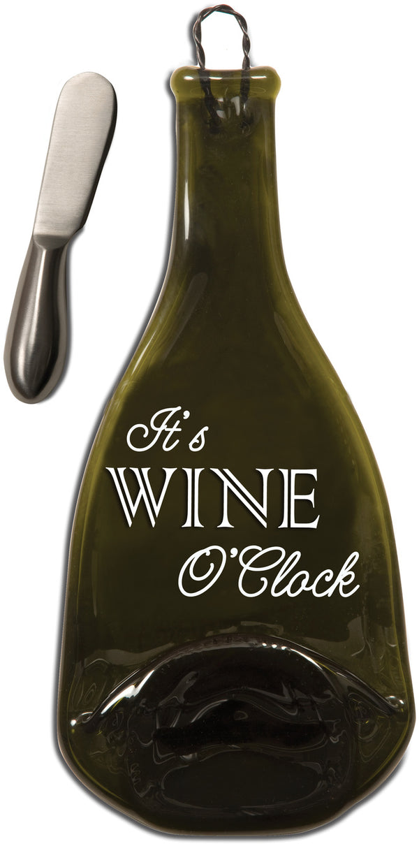 It's Wine O'Clock Wine Bottle Serving Tray & Spreader Serving Tray & Spreader - Beloved Gift Shop