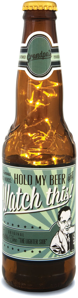 Grandpa - 16 oz Beer Bottle Lantern by Beer All The Time - Beloved Gift Shop