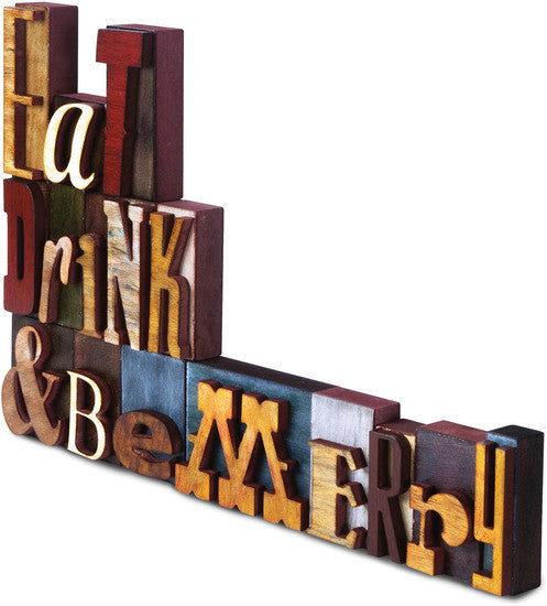 Eat, Drink & Be Merry Wood Block Letters Wood Block Letters - Beloved Gift Shop