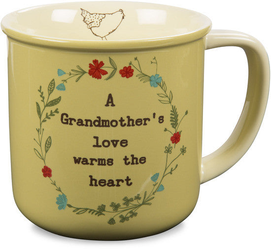 A grandmother's love warms the heart Mug by Live Simply by Amylee Weeks - Beloved Gift Shop