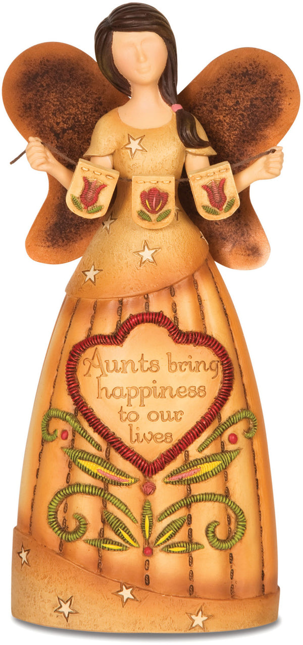 Aunts bring happiness to our lives Figurine Angel Figurines - Beloved Gift Shop