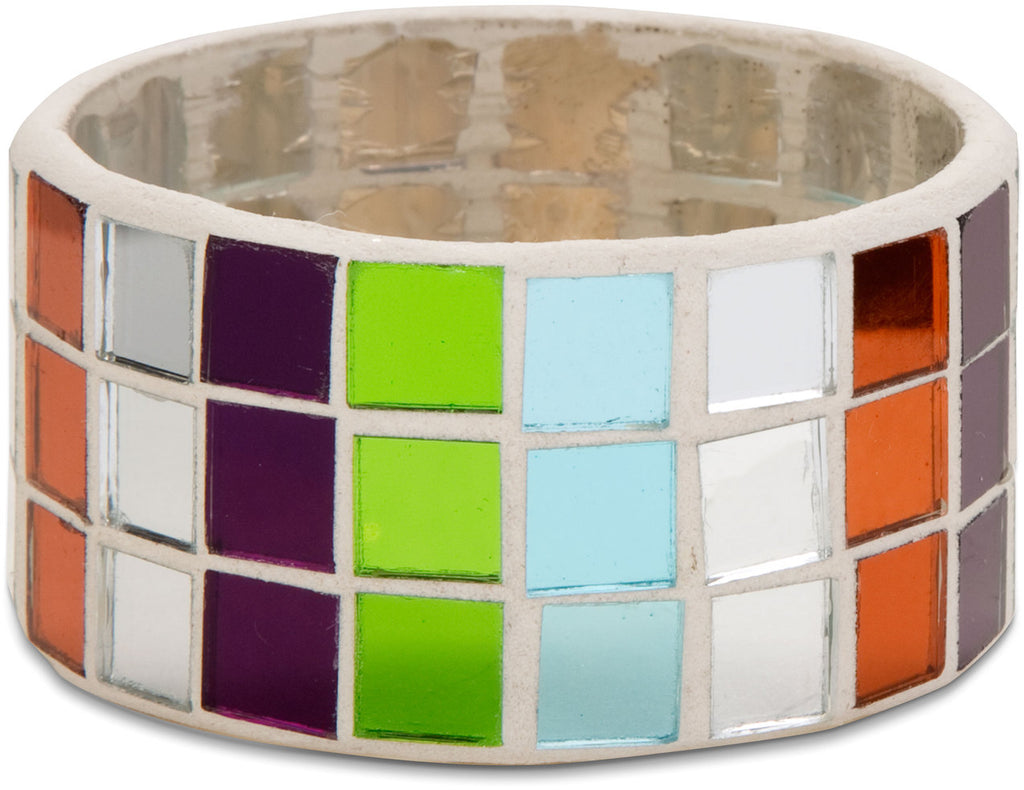 Mosaic Glass Napkin Ring Mosaic Glass Napkin Ring (4 pc set) Napkin Holder - Beloved Gift Shop