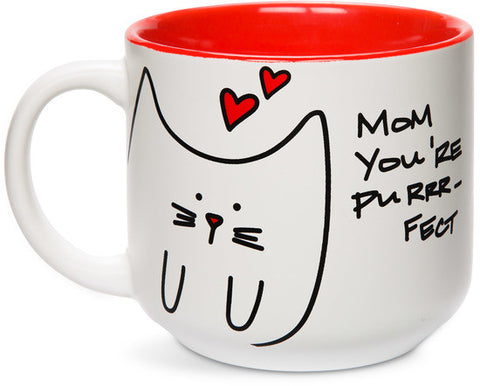 Mom you're purrr-fect Coffee & Tea Mug by Blobby Cat - Beloved Gift Shop