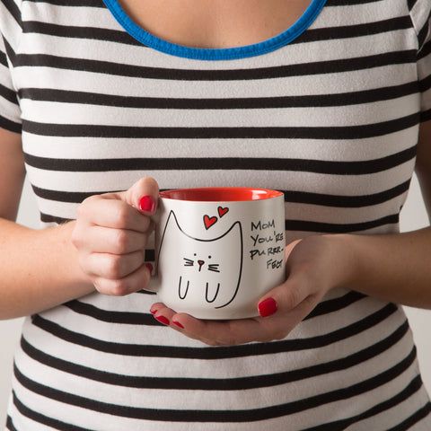 Mom you're purrr-fect Mug by Blobby Cat - Beloved Gift Shop