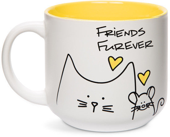 Friends Forever Coffee & Tea Mug by Blobby Cat - Beloved Gift Shop