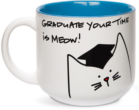 Graduate your time is meow! Mug by Blobby Cat - Beloved Gift Shop