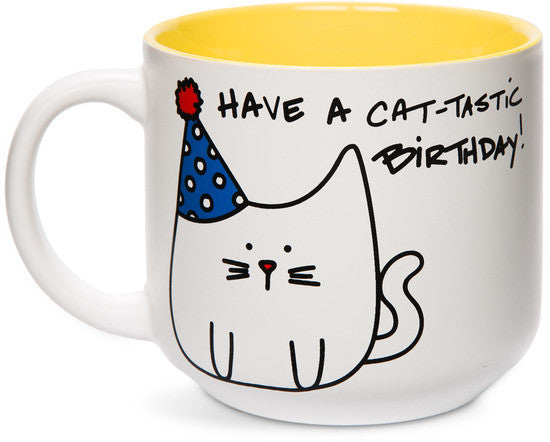Have a cat-tastic birthday! Mug by Blobby Cat - Beloved Gift Shop