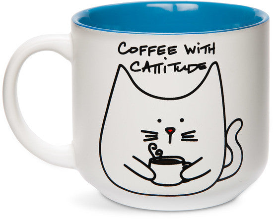 Coffee with cattitude Mug Mug - Beloved Gift Shop