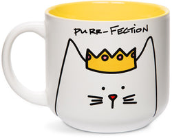 Purr-fection Princess Cat Coffee Tea Beverage Mug