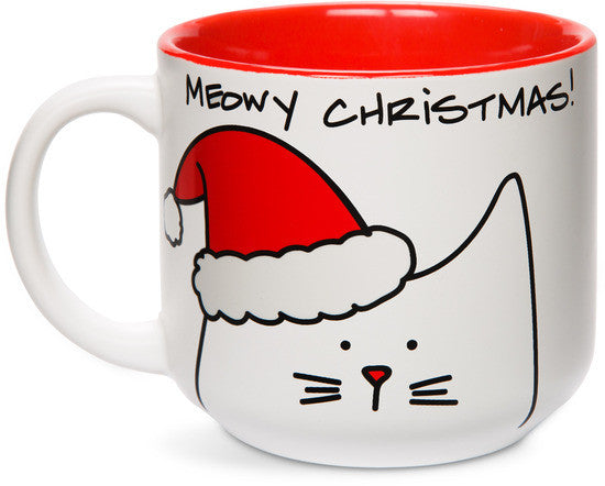 Meowy Christmas! Coffee & Tea Mug by Blobby Cat - Beloved Gift Shop