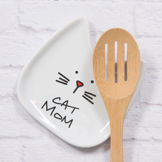 Cat Mom Spoon Rest Spoon Rest - Beloved Gift Shop
