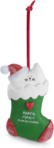Baby's First Christmas Christmas Ornament by Blobby Cat - Beloved Gift Shop