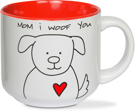 Mom I woof you Coffee Tea Beverage Mug Mug - Beloved Gift Shop