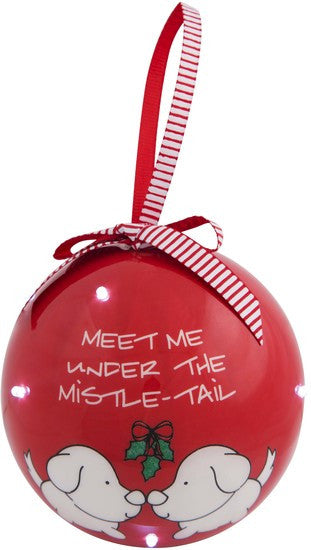 Meet me under the mistle-tail Blinking Christmas Tree Ornament
