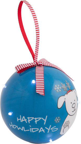 Happy Howlidays Blinking Ornament Christmas Ornament - Beloved Gift Shop