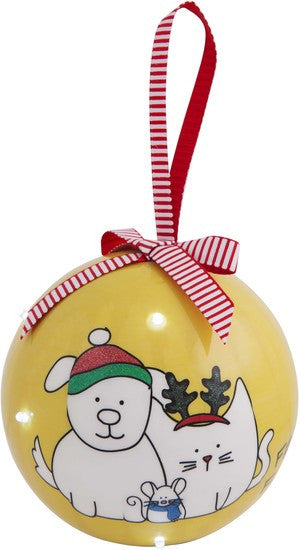 Friends furever - 100 MM Blinking Christmas Ornament by Blobby Dog - Beloved Gift Shop