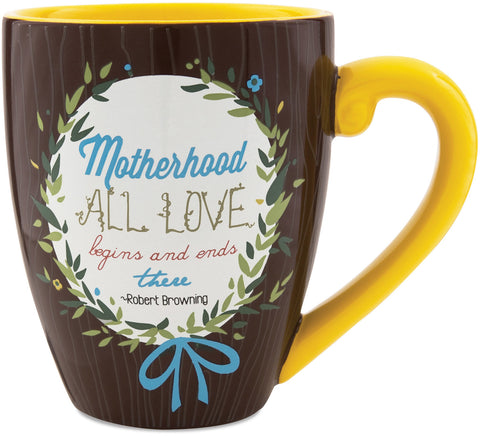 Motherhood All Love begins and ends there Mug by Words to Breathe By - Beloved Gift Shop