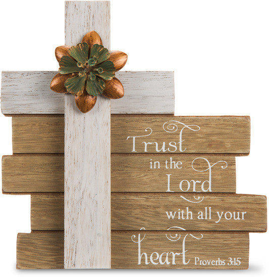 Trust in the Lord Cross Plaque Plaque - Beloved Gift Shop