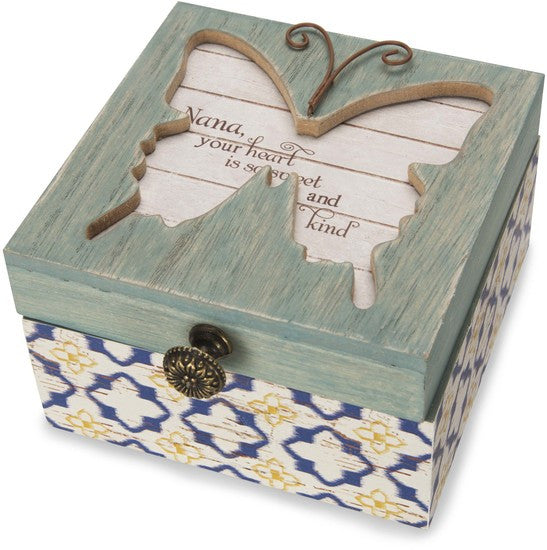 Nana, your heart is so sweet and kind Keepsake Box Keepsake Box - Beloved Gift Shop