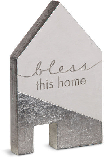 Bless this home Cement House Plaque Plaque - Beloved Gift Shop