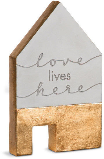Love lives here Cement House Plaque Plaque - Beloved Gift Shop