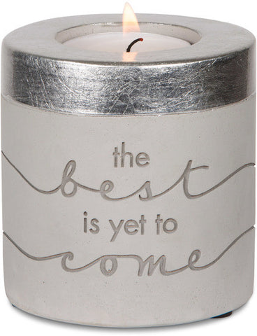 The Best Is Yet To Come - Cement Candle Holder by Sweet Concrete - Beloved Gift Shop