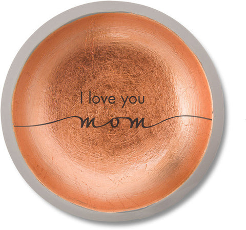 I Love You Mom - Cement Keepsake Dish by Sweet Concrete - Beloved Gift Shop