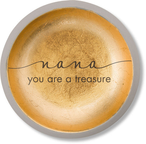 Nana You Are a Treasure - Cement Keepsake Dish by Sweet Concrete - Beloved Gift Shop