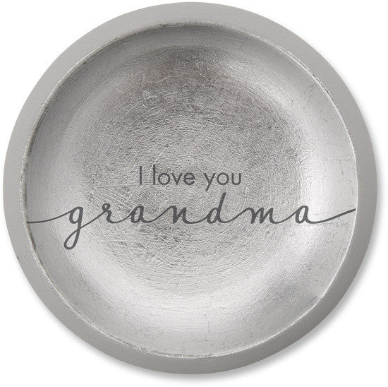 I love you Grandma Cement Keepsake Dish Keepsake Dish - Beloved Gift Shop