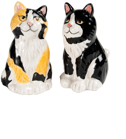 Callie & Jacquelyn Calicos Cat Salt and Pepper Shaker Set S & P Shakers - Beloved Gift Shop