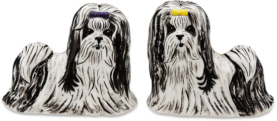 Monroe & Bobo Shih Tzu Dog Salt and Pepper Shaker Set
