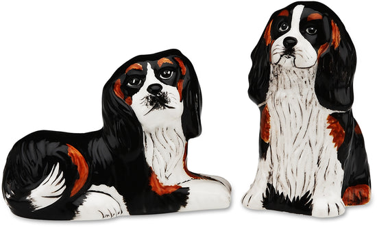 Devilin & Percy Cavalier Dog Salt and Pepper Shaker Set