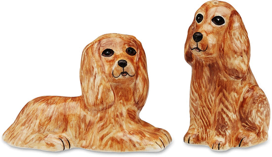 Tanner & Mitzi Cocker Span Dog Salt and Pepper Shaker Set